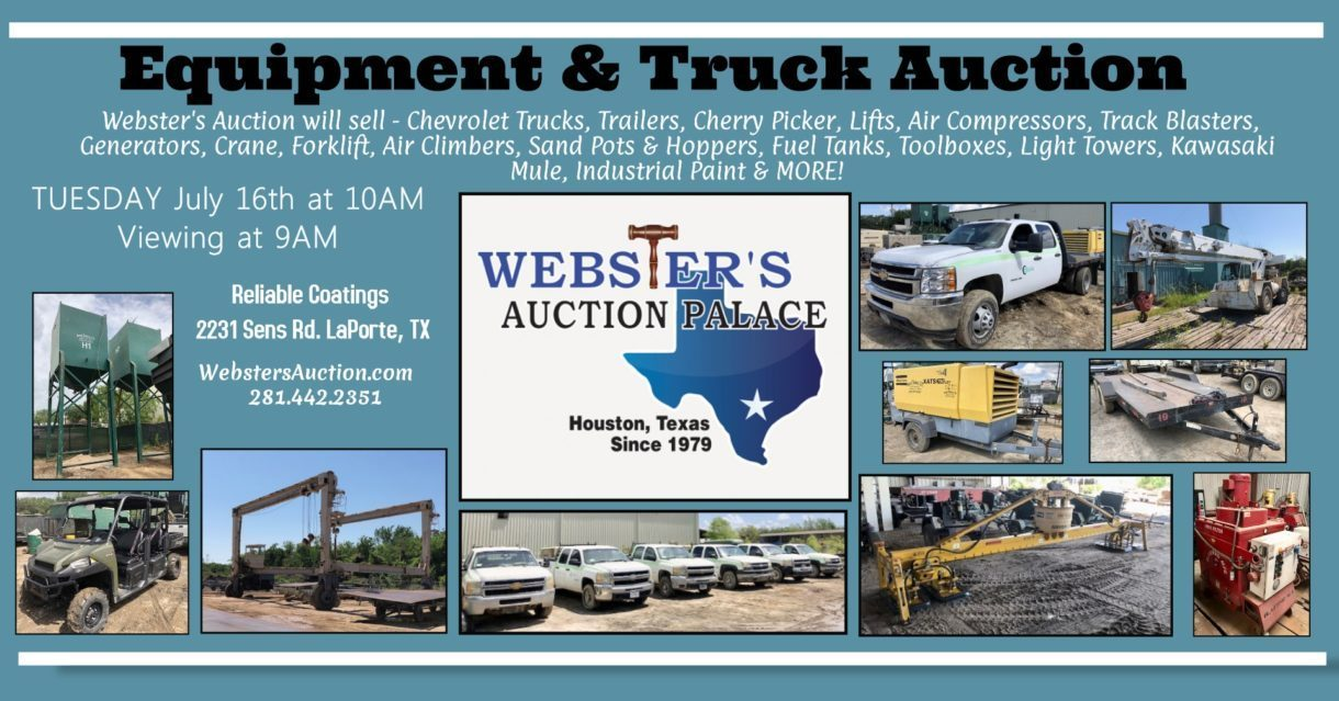 JULY 16TH Trucks, Trailers, Lifts, & Heavy Equipment Auction 10AM