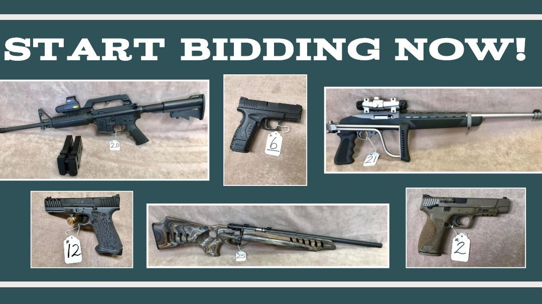 ONLINE PROXIBID GUN AUCTION JULY 31ST – AUGUST 7TH ENDS AT NOON