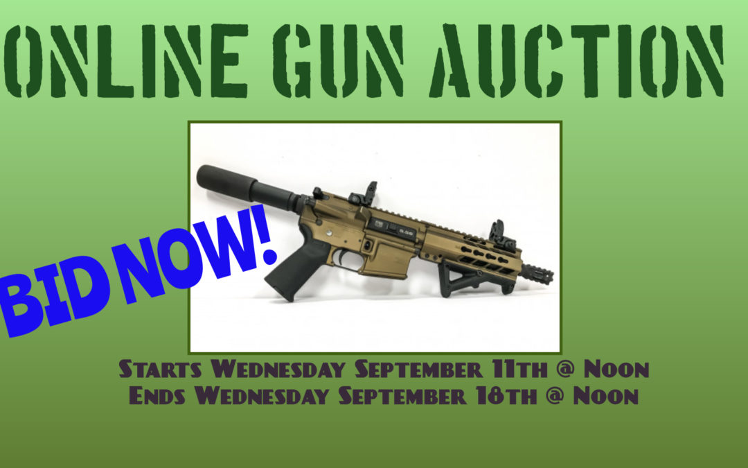 ONLINE GUN AUCTION – September 11th – 18th
