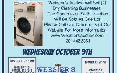 WEDNESDAY OCTOBER 9th –  EMERGENCY BUSINESS AUCTION!