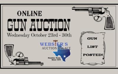 ONLINE GUN AUCTION – October 23rd – 30th
