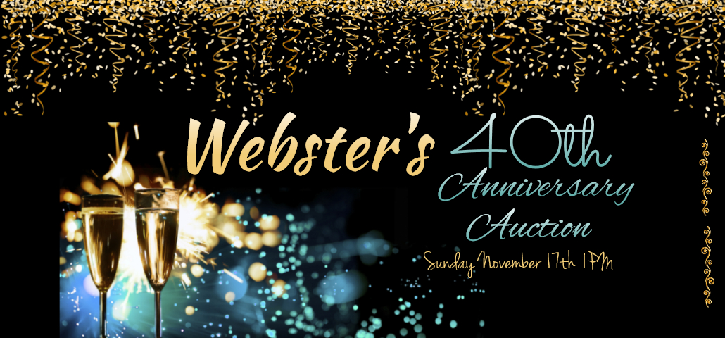 SUNDAY NOVEMBER 17TH  40th ANNIVERSARY AUCTION!