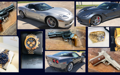 GUN COLLECTION, CORVETTES, INVESTMENT JEWELRY, BOAT & MORE!   AUCTION DATE T.B.A. SOON