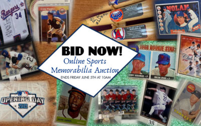 ONLINE AUCTION – LIFETIME COLLECTION OF SPORTS MEMORABILIA MAY 29TH – JUNE 5TH