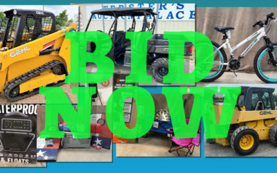 ONLINE – SKID STEERS, MAN LIFT, SXS, BICYCLES, SPORTING GOODS & MORE JULY 1ST – 8TH