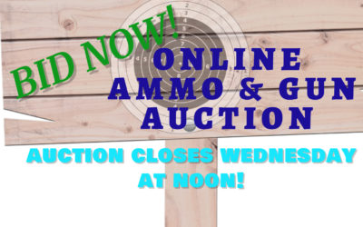 ONLINE AUCTION – GUNS & AMMO MONDAY OCTOBER 5TH – WEDNESDAY OCTOBER 14TH