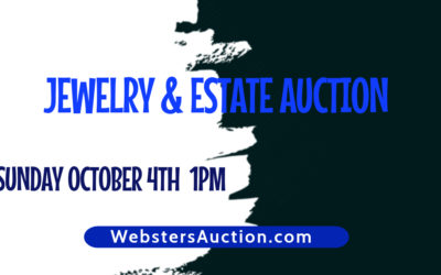 LIVE AUCTION – ESTATE, FINE JEWELRY & MORE! SUNDAY OCTOBER 4TH 1PM; VIEW AT NOON