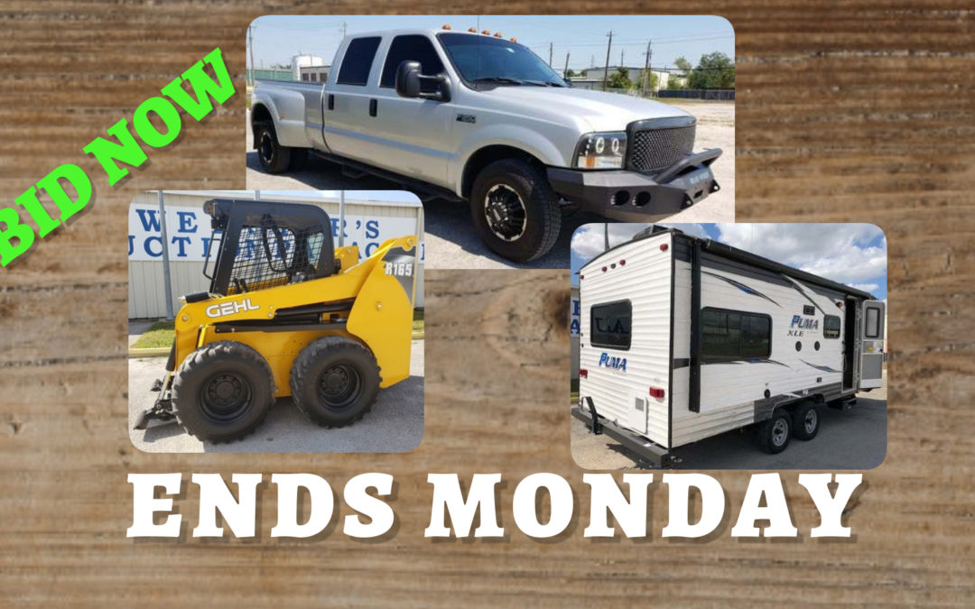 ONLINE AUCTION – VEHICLES, EQUIPMENT, TOOLS & MORE FRIDAY OCTOBER 30TH – MONDAY NOVEMBER 9TH