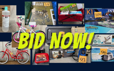 ONLINE AUCTION – WEDNESDAY SEPTEMBER 8TH-16TH BICYCLES, SPORTING GOODS, SANITIZER & MORE!