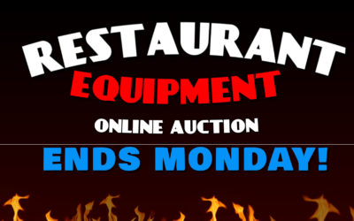 ONLINE – MONDAY OCTOBER 19TH – 26TH HUGE RESTAURANT EQUIPMENT AUCTION!