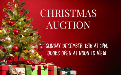 SUNDAY DECEMBER 13TH AT 1PM; DOORS OPEN AT NOON – EVERYTHING CHRISTMAS AUCTION!