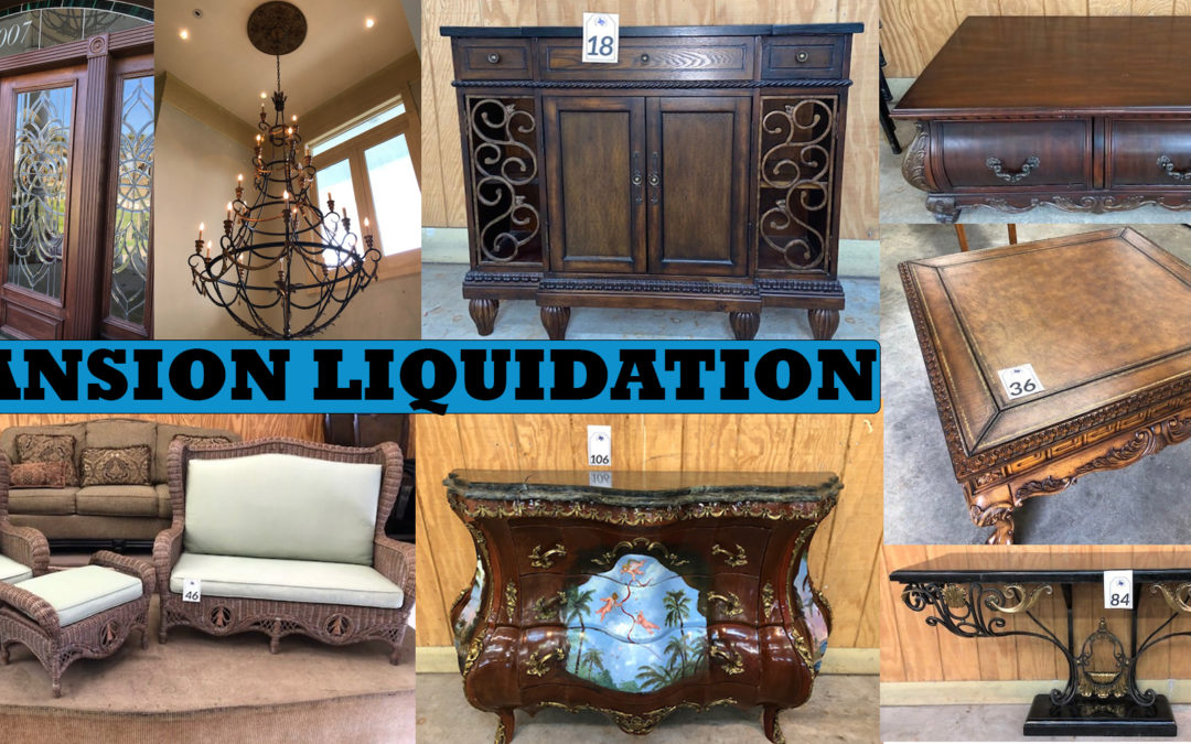 ONLINE AUCTION – GALVESTON MANSION LIQUIDATION WEDNESDAY MARCH 24TH – WEDNESDAY MARCH 31TH