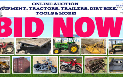 ONLINE AUCTION – TRACTORS, EQUIPMENT, TRAILERS, TOOLS & MORE  WEDNESDAY APRIL 28TH – WEDNESDAY MAY 5TH