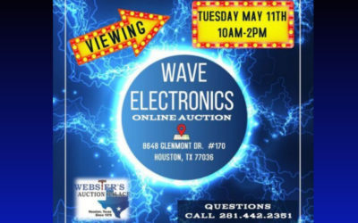 ONLINE AUCTION – 100'S OF ELECTRONICS, TV'S, SPEAKERS, PROJECTORS & MORE  WEDNESDAY MAY 5TH – WEDNESDAY MAY 12TH