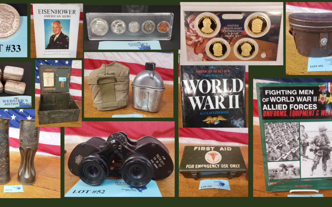 ONLINE AUCTION – LARGE COIN & MILITARY COLLECTION FRIDAY APRIL 9TH – FRIDAY APRIL 16TH