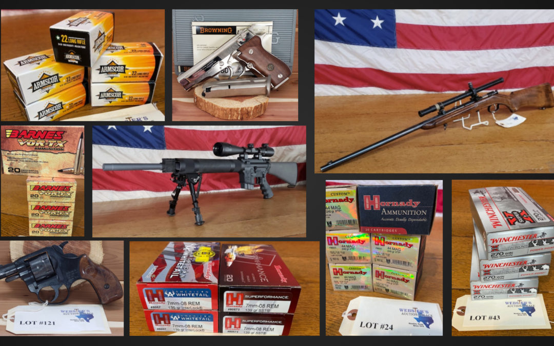 ONLINE AUCTION – 150+ LOTS OF FIREARMS & AMMUNITION WEDNESDAY APRIL 7TH-WEDNESDAY APRIL 14TH