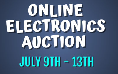 ONLINE AUCTION – ELECTRONICS, SPEAKERS, TV'S & MORE  FRIDAY JULY 9TH – TUESDAY JULY 13TH