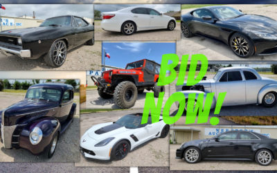ONLINE AUCTION – EXOTIC & CLASSIC CARS  WEDNESDAY JULY 28TH – WEDNESDAY AUGUST 4TH