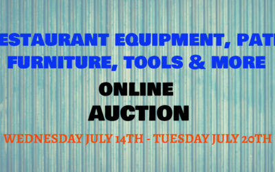 ONLINE RESTAURANT EQUIPMENT, PATIO FURNITURE, TOOLS & MORE WEDNESDAY JULY 14TH – TUESDAY JULY 20TH